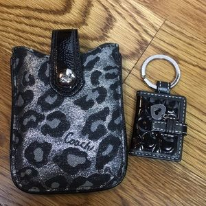 Coach Ocelot Phone Case and Key Ring
